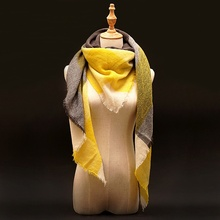 2016 Za Winter Cashmere Scarf Women Blanket Scarf Luxury Brand Designer Scarves For Women Tartan Plaid Scarf Pashmina Wrap Shawl