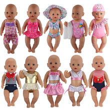 1 Pairs Bikini Doll Clothes Wear fit 43cm Baby Doll Clothes and Accessories Children best Birthday Gift(China)