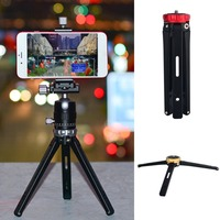 Portable MT 02 Foldable Tripod SLR Camera Mobile Phone Bracket Desktop Tripod Adjustable Aluminum Alloy Tripod Panoramic Kit