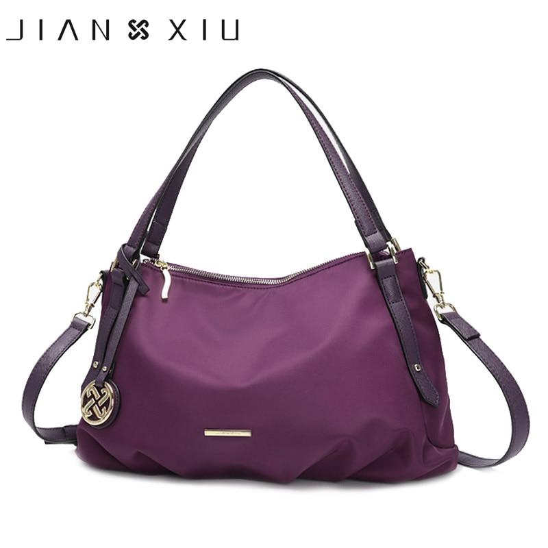JIANXIU Brand Women Handbag Nylon 3 Color Female Top hand Bag Casual Shoulder Crossbody Bags For