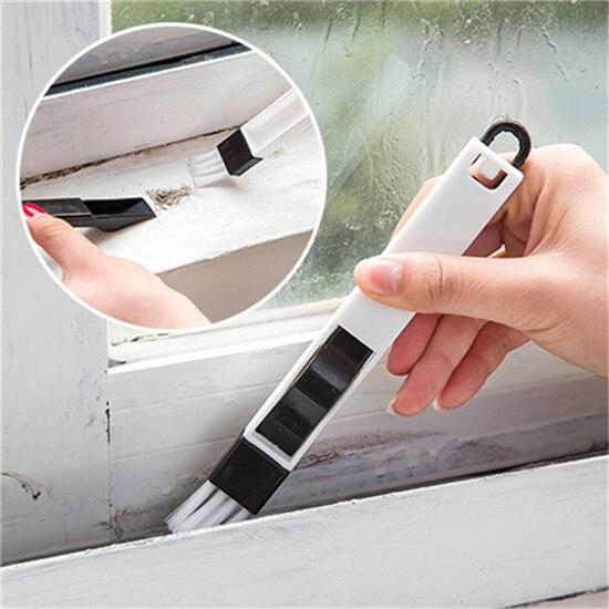 2 in1 Multiusos ranura de la ventana de limpieza cepillo grieta Rincón del hogar