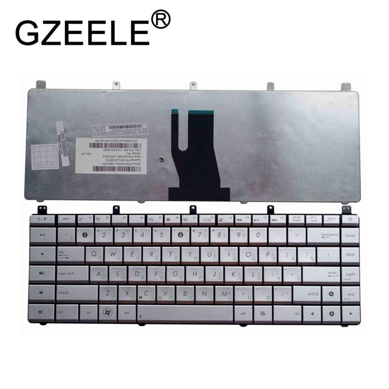 GZEELE RU New Keyboard FOR ASUS N45 N45E N45S N45Vm N45 2 N45SF N45Sl N45SJ Laptop Keyboard Russian Silver Replacement Keyboards     - title=