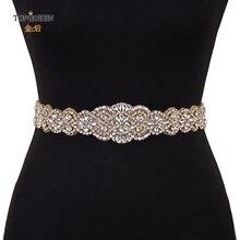 TOPQUEEN S161B-G, Быстрая, свадебные Стразы, бриллианты, бисер, пояс, свадебные золотые стразы, пояс из бисера, ремни для платьев