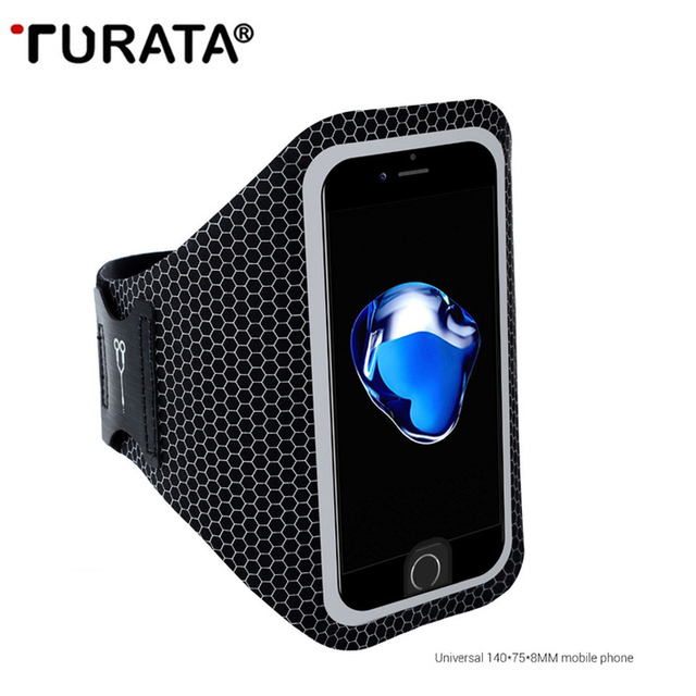 buy online 1c5dc b27e0 US $4.25 |Turata Armband Running Sports Cover Case Arm Band Belt For iphone  6 6S 7 8 4.7