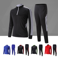 Adsmoney Winter Soccer Running Jackets Long Sleeve Tracksuit Men Kids Soccer Jersey Training Suit Boy Training