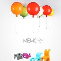Dia 25/30/35cm 5 Colors Balloon Acrylic Pendant Light fixture home deco Bedroom Children Room E27 LED Lamps Pendant Lamp