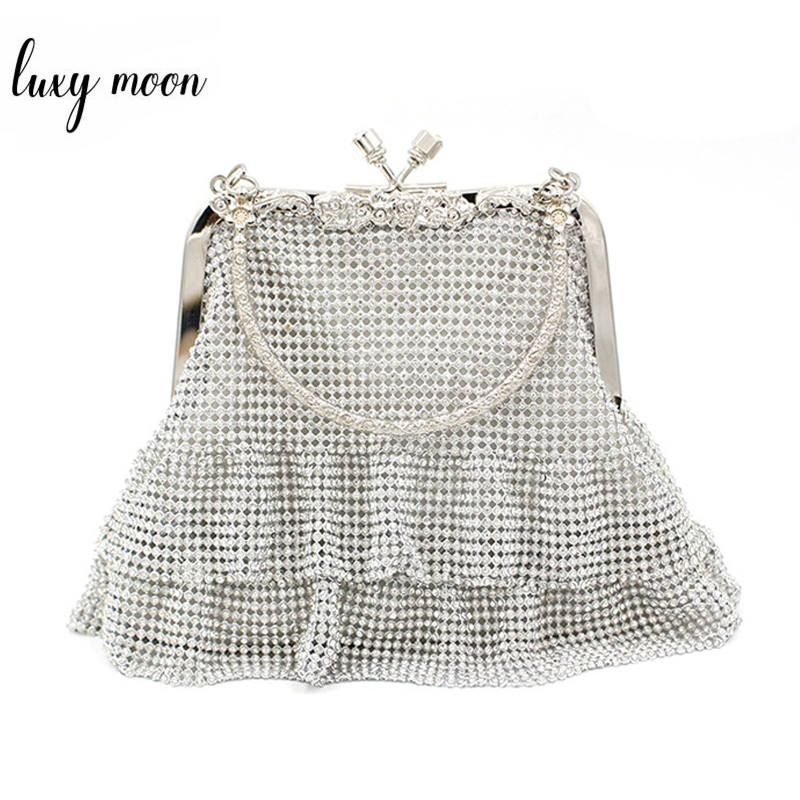 Diamond Beaded Handbag Mini Totes Fashion Evening Clutch Bag Female Chain Shoulder Bag Party Purse Exquisite Wedding Bag ZD1188