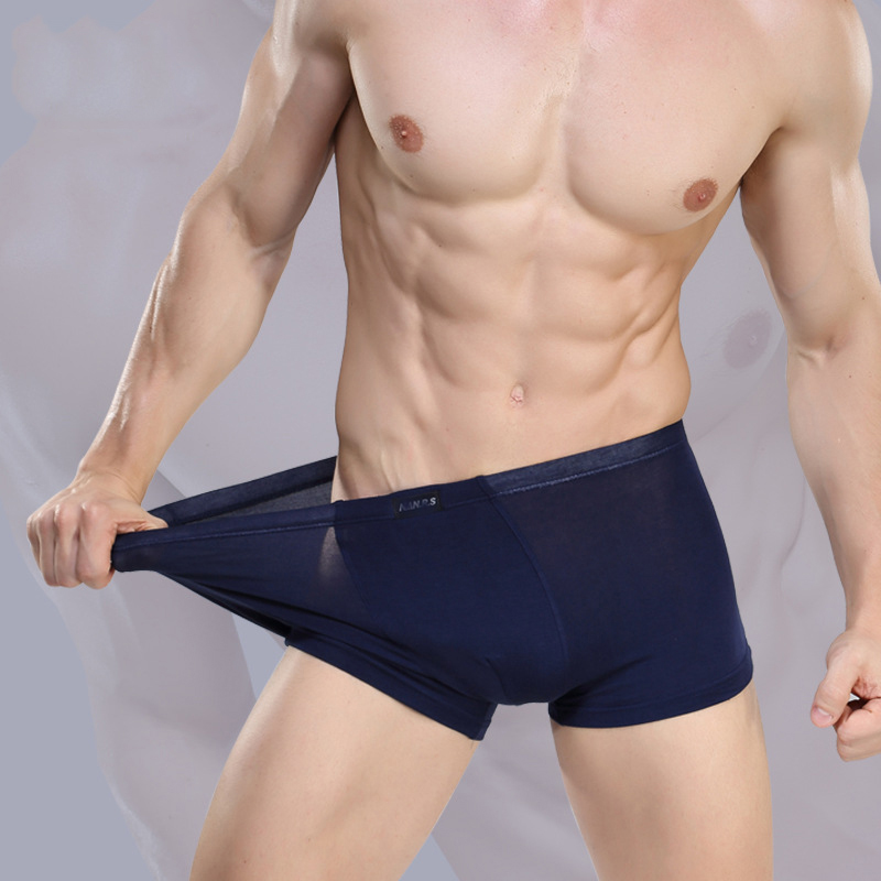 2019 Brand Clothing Mens Underwear Boxer bamboo fiber Casual Male Men's Short Masculina De Marca Man Underpants Solid Color-in Boxers from Underwear & Sleepwears
