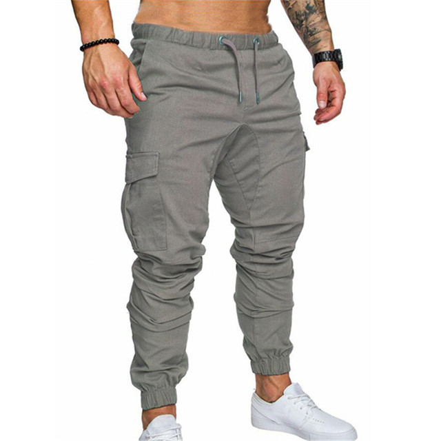 d8995b4811a Stylish Military Joggers Cargo Pants Men Fitness Tactical Skinny Pants  Multi Pockets Waist Khaki Casual Trousers Male Plus Size