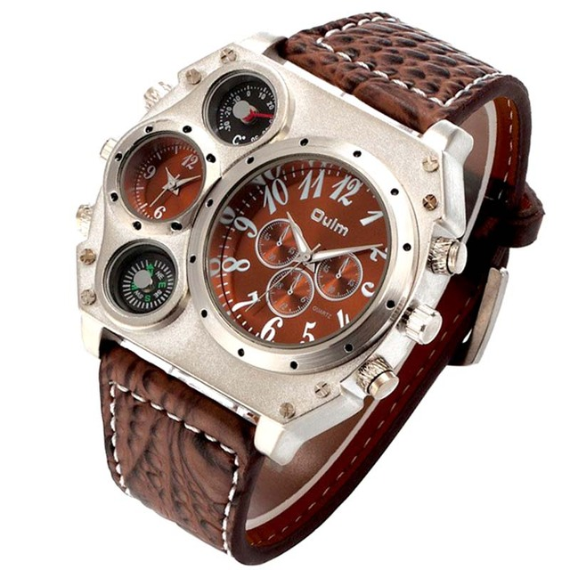 bad62b97cca Mens Relógios Homens OULM Relógio Militar Relógio de Pulso de Quartzo Top  Marca de Luxo Famoso