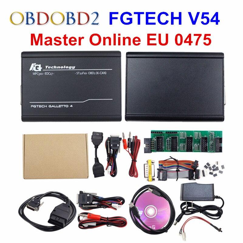 Онлайн мастер-ЕС 0475 FGTECH V54 Galletto 4 полный чип Поддержка BDM полный Функция FG Tech V54 Авто ЭКЮ чип тюнинг OBD FG-tech