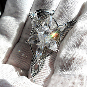Image 3 - High Quality LOTR S925 Sliver Arwen Evenstar Pendant Necklace Valentines Day Gift for Girlfriend Girl Women Sliver Jewelry
