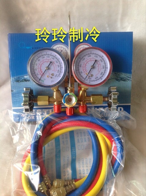 R134a r12 Car air conditioning refrigerant tables,pressure gauges, auto air conditioning repair tool kit