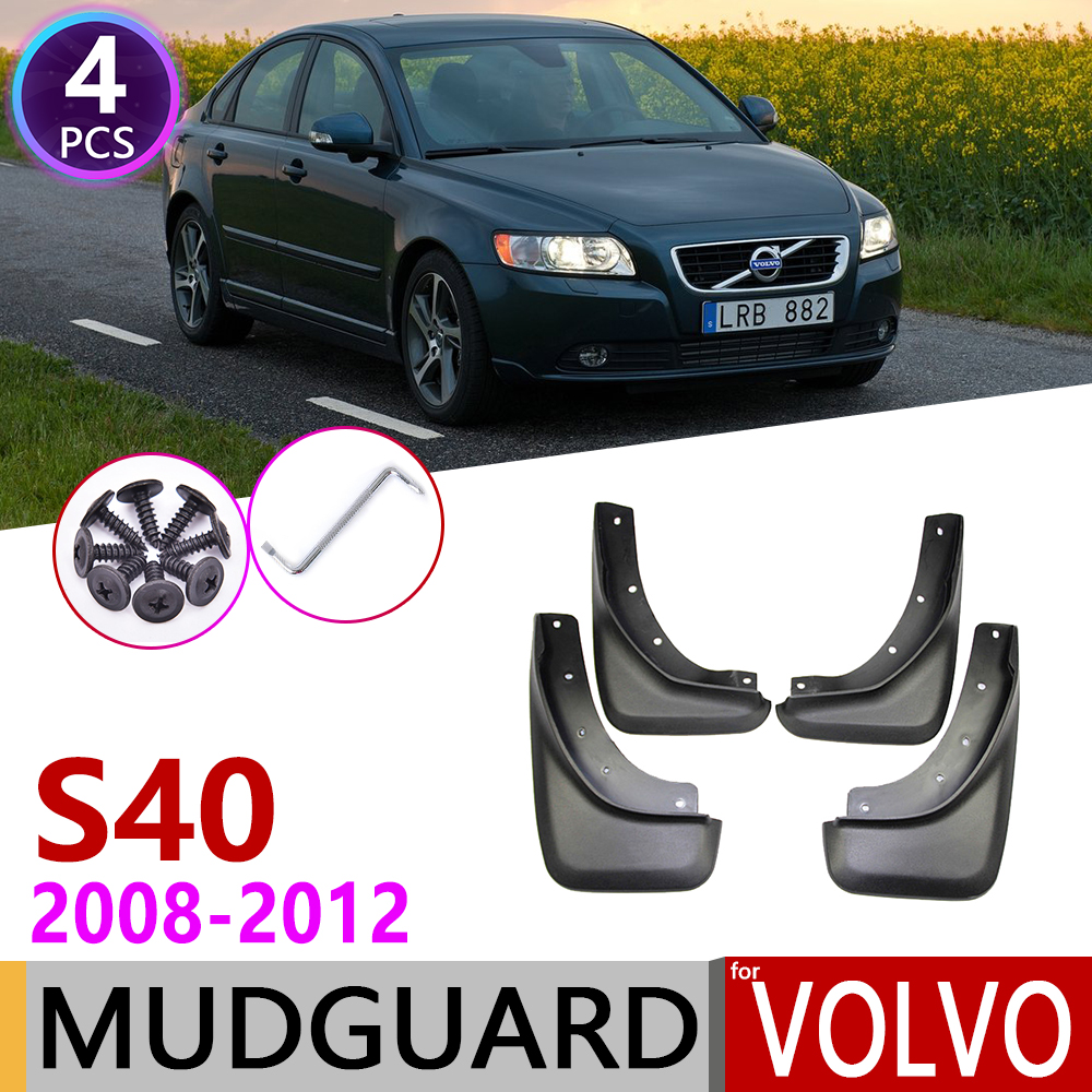 Front Rear Car Mudflap For Volvo S40 2008~2012 Fender Mud Guard Flap Splash Flaps Mudguards Accessories 2009 2010 2011 2nd Gen