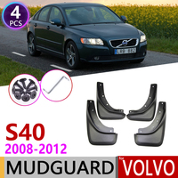 Front Rear Car Mudflap for Volvo S40 2008~2012 Fender Mud Guard Flap Splash Flaps Mudguards Accessories 2009 2010 2011 2nd Gen