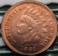FREE SHIPPING wholesale Replica 1860 Indian head cents coin copy 100% coper manufacturing