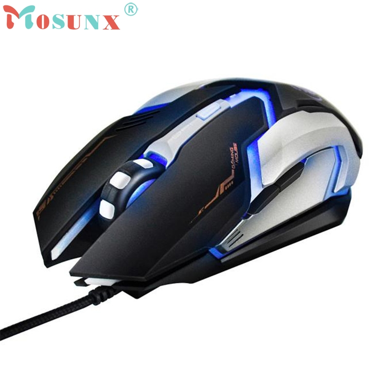 2017 High Quality 3000 DPI LED Optical 6D USB Wired Gaming Game Mouse Mice For PC Laptop Game mar10