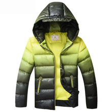 Warm Winter Boys Coat Kids Padded Jacket Outerwear For 8-16Y Casual Hooded Thick Warm Children Boys Parkas Overcoat BC352