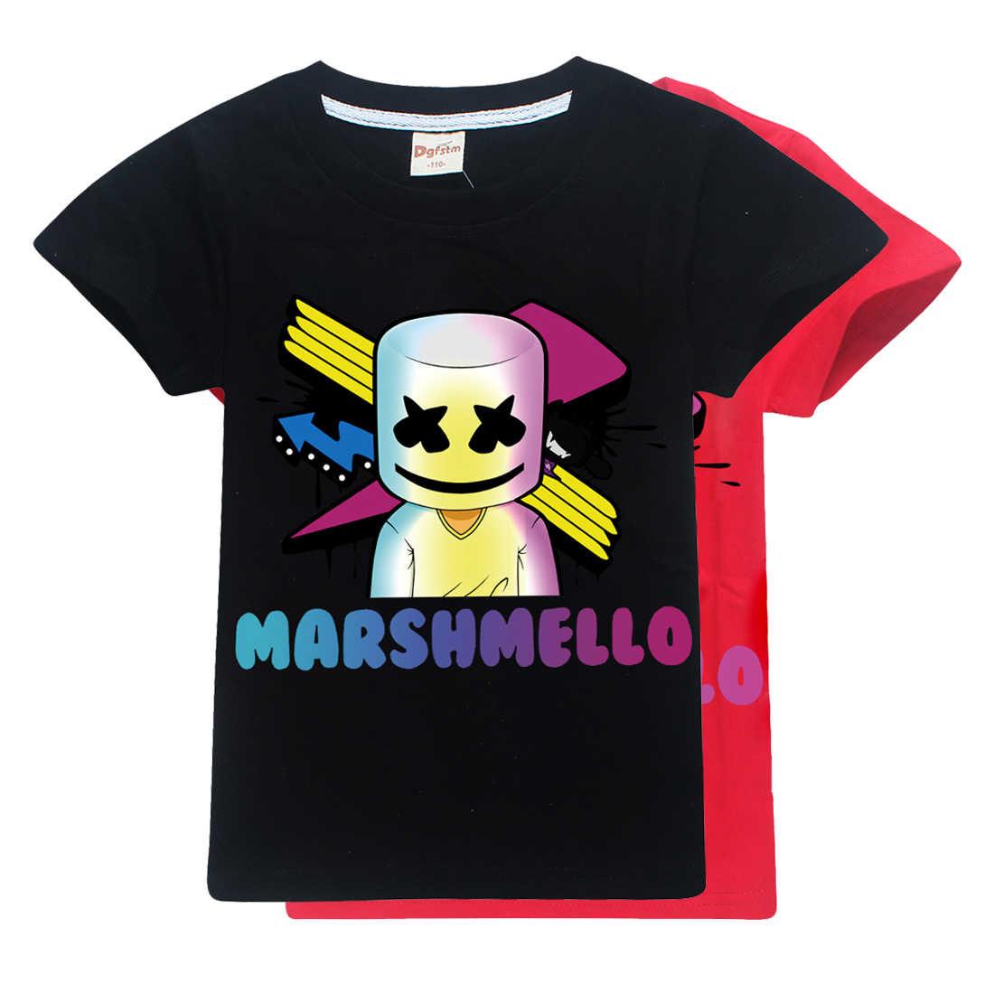 e60ec44d8 Marshmello T camisa música DJ Tops para niño niñas ropa de moda de verano  de 2019