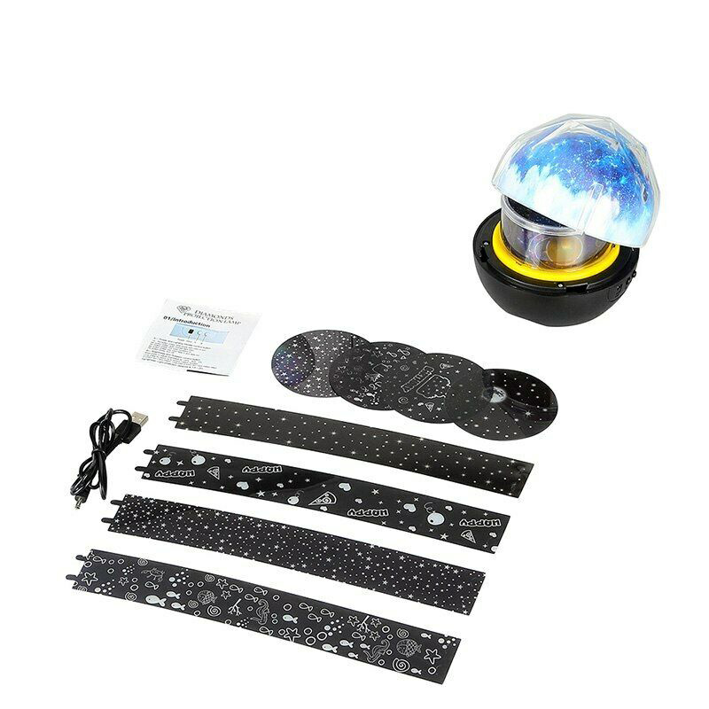 Kids Night Light Projector Lamp 360 Rotating Starry Planet Lamp for Bedroom Gift with 5 Sets Film Dropshipping