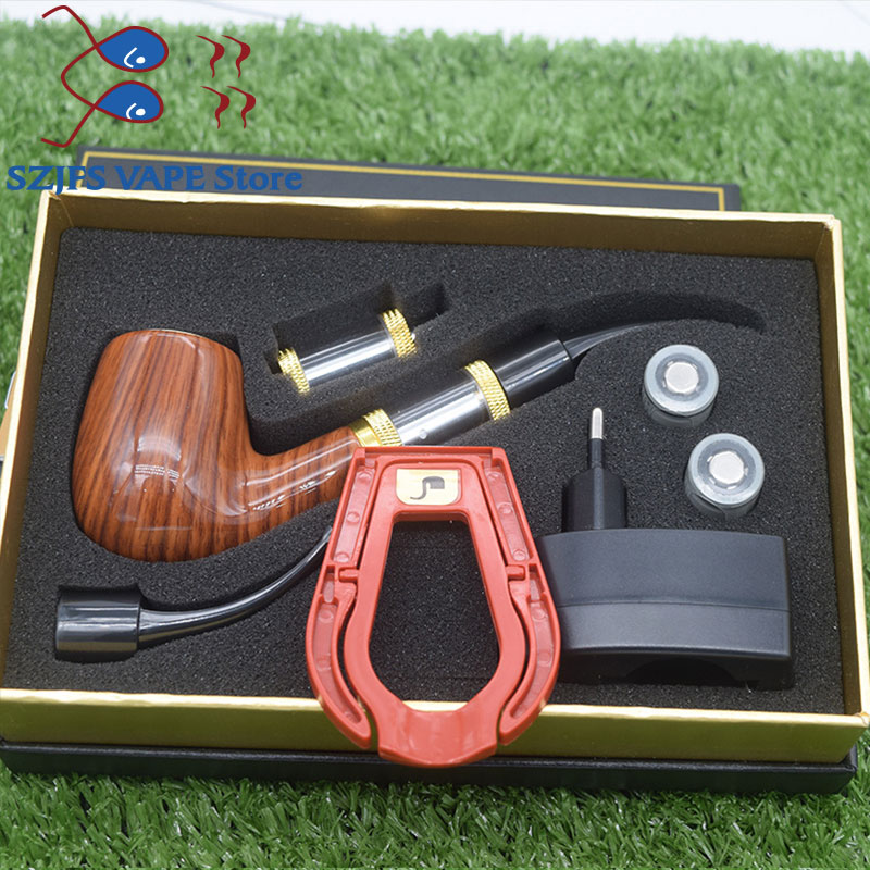 Kamry Electronic Cigarette EPipe 618 Kit Epipe 618 Electronic Smoking Pipe With Wooden Mod 2.5ml Atomizer 18350 Battery Vs K1000