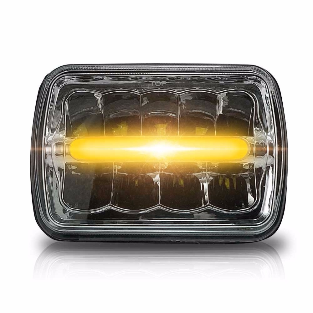 5x7 Inch Square LED Headlamp Sealed Beam Reflector Replacement Reflective 7x6  Inch Headlight Fit For Jeep Cherokee 4x4 Trucks