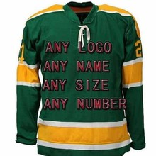 f795e6c06 Buy Cheap Custom Ice Hockey Jersey Wholesale Design DIY Your Own Team Logo  Name Number Green XXS-6XL for Men Women Kids Big Size