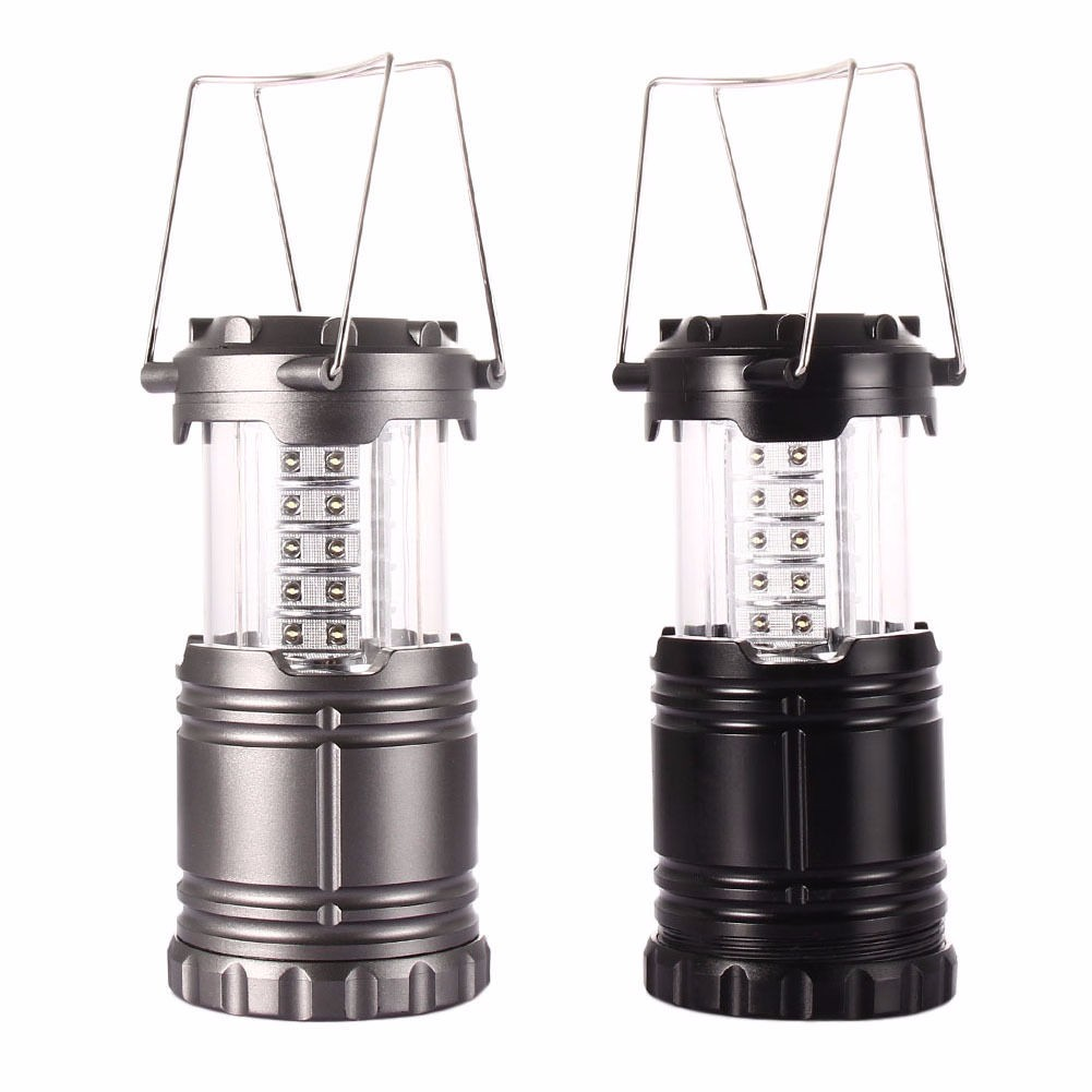 Portable 30 LED Hand Lamp Led Light Solar Collapsible Camping Lantern Tent Lights Emergency Lantern For Hiking Outdoor Lighting