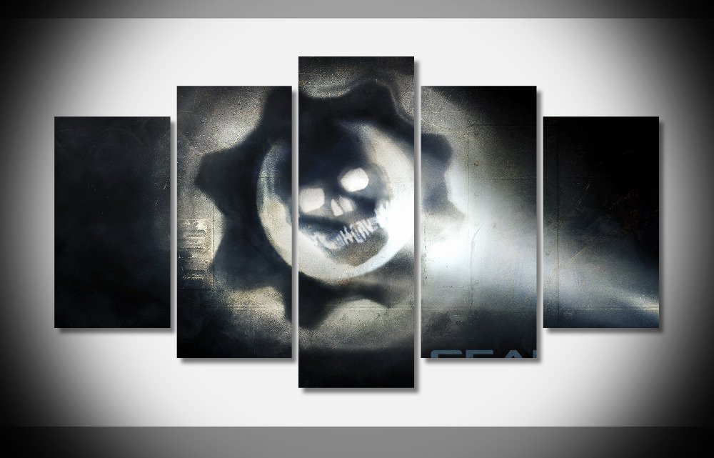 6682 call of duty 4 modern warfare game skull Poster Framed Gallery wrap art print home wall decor wall picture Already to hang