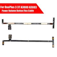 Black Power Volume Button Side Switch On Off Buttons Key Flex Cable For OnePlus 3 A3000 A3003 Cell