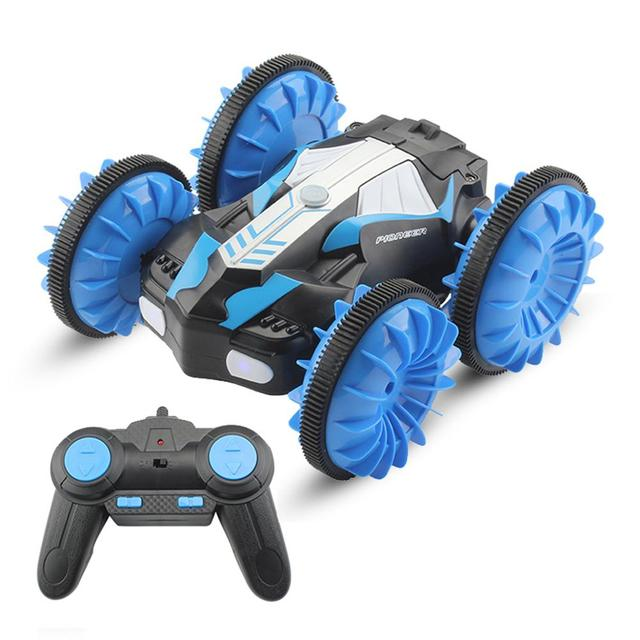 RC Amphibious Stunt Car Waterproof 360 Degree Rotation Remote Control Car Power Speed Vehicle Toys for Kids