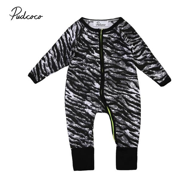 0590b278ac9a Fashion Baby Zebra Romper Newborn baby boys one piece romper ...