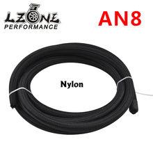 LZONE - 8 UN Pro s 'Lite Nero Da Corsa Tubo Olio Combustibile Linea 350 PSI 5 Meter JR7313