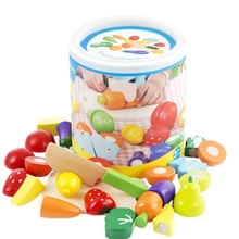 Fruit And Vegetables Play Kitchen Food For Pretend Cutting Toys - Educational Playset With Toy Knife, Board