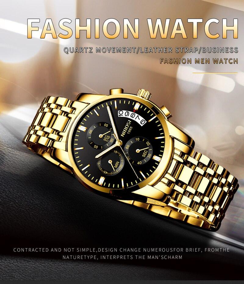 Relogio Masculino NIBOSI Mens Watches Top Brand Luxury Dress Famous Brand Watch Men Waterproof Calendar Luminous Erkek Kol Saati (1)