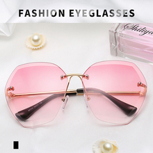 New Hindfield sunglasses women polarized Europe and America Trends Beach Glasses Cut Frame Metal oculos fashion Eyeglasses S5