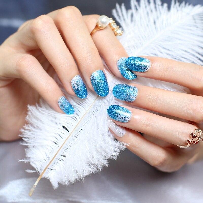 웃 유The new acrylic nails decorative sequins glittering armor UV ...