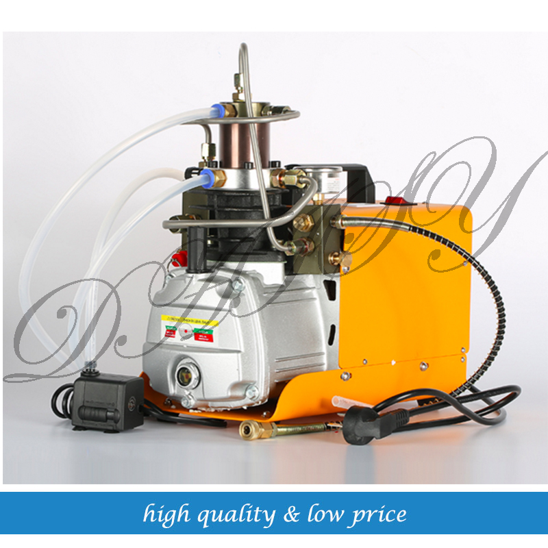 0-40mpa High Pressure Air Pump water cooling Electric mini Inflator PCP Air Compressor 220V