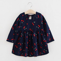Winter Dresses For Kids Full Sleeve  Baby Girl Christmas Dresses Floral Children Girl Dress Clothes For Kids 1-10t