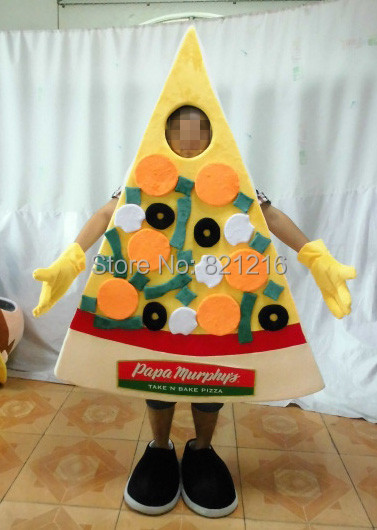 New arrival Cartoon Character Adult cute pizza Mascot Costume Fancy Dress Halloween party costume
