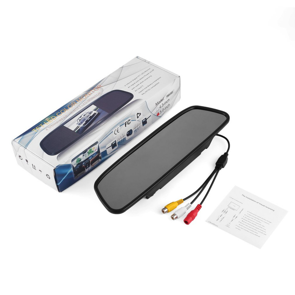 Professional 4.3/5 Car TFT LCD Mirror Monitor Night Vision Rear View Assembly Auto Switch When Reversing Waterproof Hot Selling