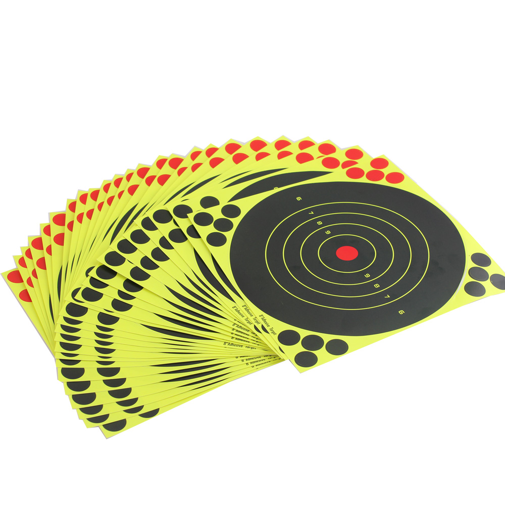 24 Sticks Splash Flower Target 8-inch Adhesive Reactivity Shoot Target For Gun Rifle Pistol Practice