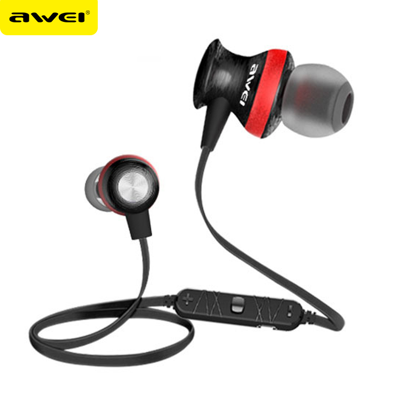Awei A980BL Auriculares Bluetooth Earphone Wireless Headset With Microphone Sport Kulakl k For iPhone Samsung All Phones wireless bluetooth earphone headphones s9 sport earpiece headset with tf card slot 8g auriculares with micro for iphone android