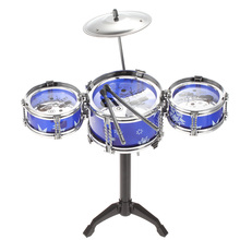Percussion Musical Instrument Set of Small Jazz Drum Playset Intelligence Educational Toy Gift for Boy Girl Kids Baby Children