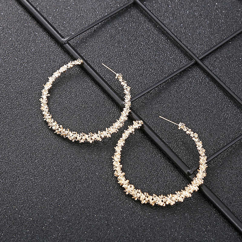 XIYANIKE New Vintage kolczyki dla kobiet złoty okrągły C geometryczne oświadczenie kolczyk 2019 metalowy kolczyk wiszące biżuteria E22