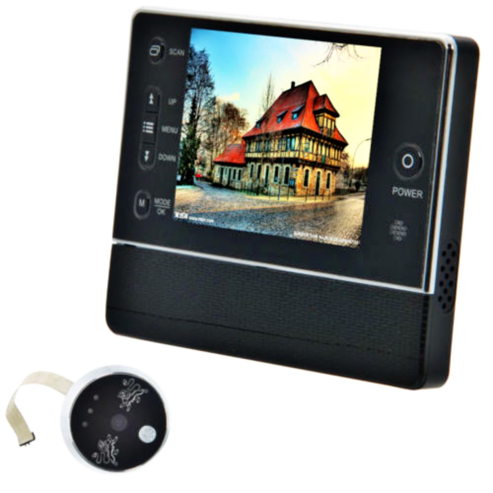 Digital Door Bell 3.5inch LCD Cat Eye 3X Zoom IR Night Vision 32 Rings Support Video Photos Menu Support 32GB Memory Card fddt digital viewfinder judas 2 8 lcd 3x zoom door bell for safety
