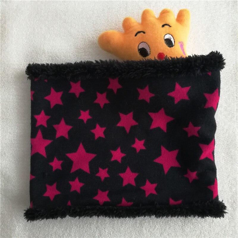 Новинка; зимний шарф с кругами; Детские шарфы; пять звезд; нагрудник для мальчиков и девочек; хлопковый Детский шарф; мягкие теплые шарфы с кольцом - Цвет: Rose Red Stars