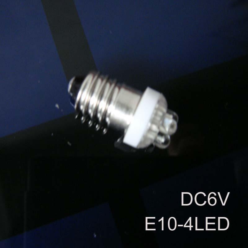 Reasonable High Quality 6v E10 Led Signal Lights,6v E10 Led Instrument Lights,dc6.3v Led E10 Lights E10 Led 6vdc Free Shipping 5pcs/lot By Scientific Process Light Bulbs
