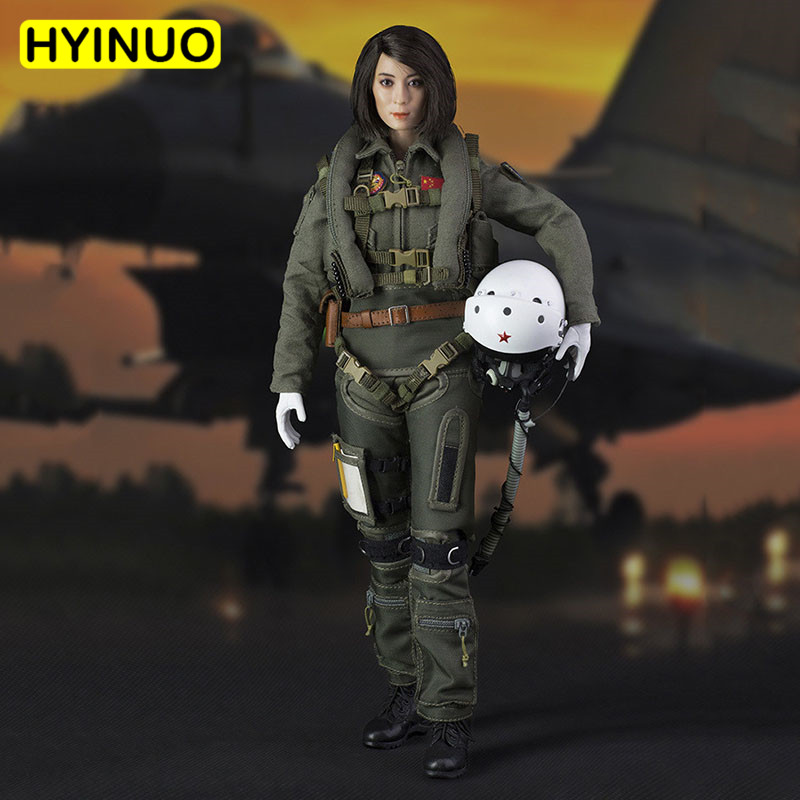 1/6 Scale FS-73006 Chinese Female Soldier Woman Chinese Air Force 90th Anniversary Sculpt Model 12 Full Set Action Figure Doll1/6 Scale FS-73006 Chinese Female Soldier Woman Chinese Air Force 90th Anniversary Sculpt Model 12 Full Set Action Figure Doll