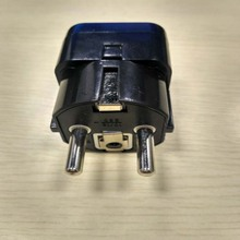 4PCS Universal EU GER AU Plug Adapter European Germany Australia Chinese Power Socket Black Travel Converter Conversion